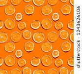 seamless citrus chips pattern... | Shutterstock . vector #1243626106