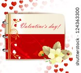 happy valentines day banner... | Shutterstock . vector #124363300