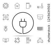 plug icon. internet things...