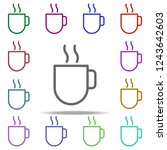 coffee icon. elements of autumn ... | Shutterstock . vector #1243642603