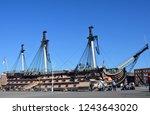 portsmouth  uk   october  2018  ...   Shutterstock . vector #1243643020
