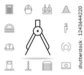compass icon. architecture... | Shutterstock . vector #1243644220
