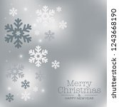 winter card with copy space... | Shutterstock .eps vector #1243668190