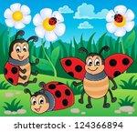 image with ladybug theme 2  ... | Shutterstock .eps vector #124366894