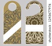door hanger with special...   Shutterstock .eps vector #1243677976