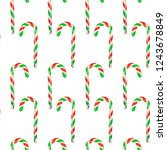seamless pattern christmas and... | Shutterstock . vector #1243678849