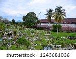 kuching  malaysia   october 14  ...   Shutterstock . vector #1243681036