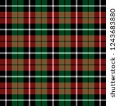 christmas and new year tartan... | Shutterstock .eps vector #1243683880