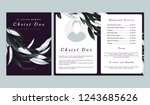 botanical memorial and funeral... | Shutterstock .eps vector #1243685626