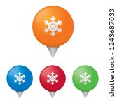 snowflake map markers