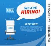 we are hiring  job vacancy... | Shutterstock .eps vector #1243690186