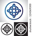 quarternary celtic knot design... | Shutterstock .eps vector #124369300