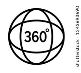 360 degree video or view 360... | Shutterstock .eps vector #1243693690