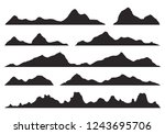 mountains silhouettes on the... | Shutterstock .eps vector #1243695706