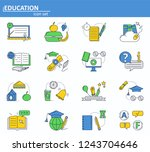 vector set of school education...
