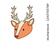 reindeer head isolated icon | Shutterstock .eps vector #1243705789