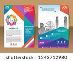color scheme with city...   Shutterstock .eps vector #1243712980