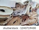 expired architecture rolls... | Shutterstock . vector #1243719430