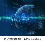 financial stock market graph on ... | Shutterstock . vector #1243721683