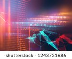 digital code number abstract... | Shutterstock . vector #1243721686