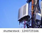 micro cellular 3g  4g  5g. base ... | Shutterstock . vector #1243725166