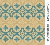 vintage seamless ornamental... | Shutterstock .eps vector #1243725940