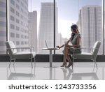 corporate executive busy on the ... | Shutterstock . vector #1243733356