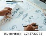 animator designer development...   Shutterstock . vector #1243733773
