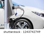 electric car charger  the... | Shutterstock . vector #1243742749