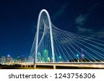 margaret hunt hill bridge at... | Shutterstock . vector #1243756306