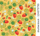 strawberry seamless pattern | Shutterstock . vector #124375750