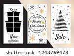merry christmas background for... | Shutterstock .eps vector #1243769473