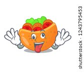 crazy pita bread filled with...   Shutterstock .eps vector #1243795453