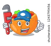 plumber pita bread filled with...   Shutterstock .eps vector #1243795456