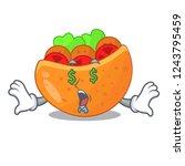 money eye pita bread filled...   Shutterstock .eps vector #1243795459
