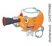 sailor with binocular labneh...   Shutterstock .eps vector #1243795480