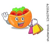 shopping pita bread sandwiches...   Shutterstock .eps vector #1243795579