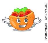 grinning pita bread sandwiches...   Shutterstock .eps vector #1243795603