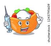 nurse pita bread sandwiches...   Shutterstock .eps vector #1243795609