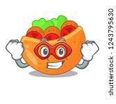 super hero pita bread...   Shutterstock .eps vector #1243795630