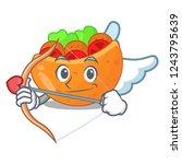 cupid falafel in pita in bread... | Shutterstock .eps vector #1243795639