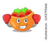 boxing falafel in pita in bread ...   Shutterstock .eps vector #1243795666