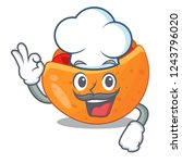 chef pita bread sandwiches with ... | Shutterstock .eps vector #1243796020