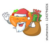 santa with gift pita bread... | Shutterstock .eps vector #1243796026