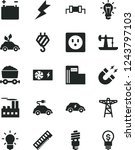 solid black vector icon set  ... | Shutterstock .eps vector #1243797103