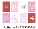 greeting love vector hand... | Shutterstock .eps vector #1243801066