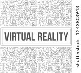 virtual reality design with... | Shutterstock .eps vector #1243803943