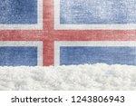 winter grunge background with... | Shutterstock . vector #1243806943