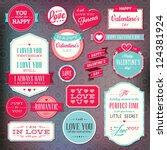 set of stickers and badges for... | Shutterstock .eps vector #124381924