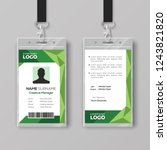 corporate id card template with ... | Shutterstock .eps vector #1243821820